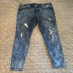Forever21+ Plus Distressed Stretchy Jeans Sz20